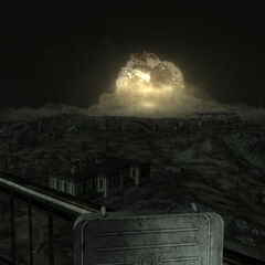 Blowing up Megaton at night.