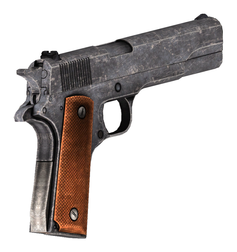 .45 Auto pistol unused iron sights