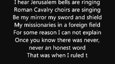 Coldplay-When I ruled the world(lyrics)or Viva la Vida.