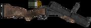 Grenade rifle blown up