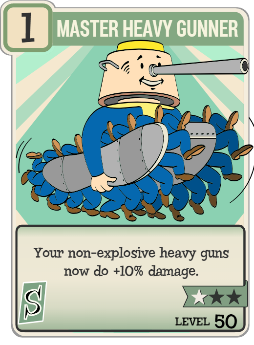 Master Heavy Gunner | Fallout Wiki | FANDOM powered by Wikia