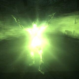Світиться гуль випромінює хвилю радіації