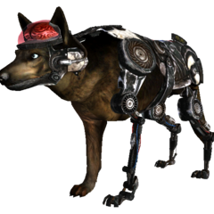 Cyberhound Mk III police model in <i>Fallout: New Vegas</i>