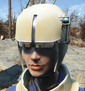 Synth helmet worn
