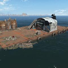 Umarked location: Barge platform
