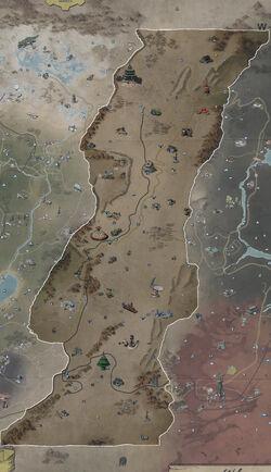 FO76 Region 4 Savage Divide map