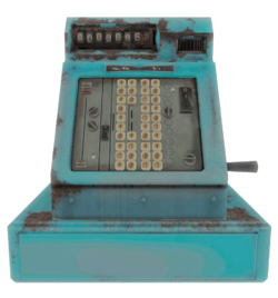 Fo4 cash register blue