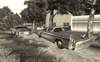 Vault 112 Classic car and little white house