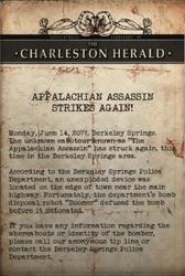 Charles Herald - Assassin strikes again note