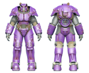 FO4CC X-01 power armor purple