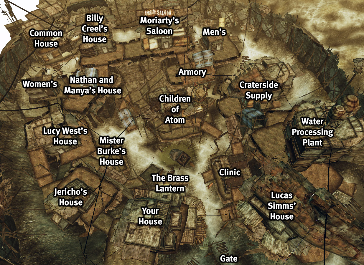 Gate Tower Floor Plan Image Map Over Megaton Jpg Fallout Wiki Fandom