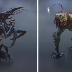 Fog crawler and angler concept art
