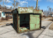 Fo4WW feral ghoul cage