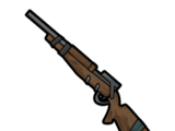 Rusty hunting rifle