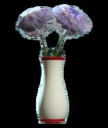 Glass flared red vase