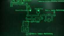 HC utility tunnels loc map