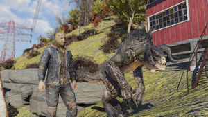 FO76 Player and tamed deathclaw