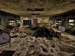 Gypsum quarry office interior