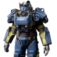 FO76 Vault-Tec power armor paint