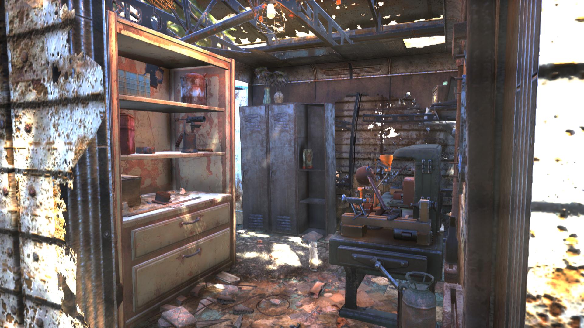 FO76 safecracker's shack supply room