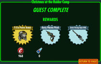 FoS Christmas at the Raider Camp rewards