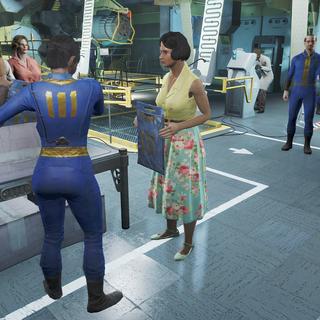 Місіс Ейбл отримує комбінезон Сховища 111.