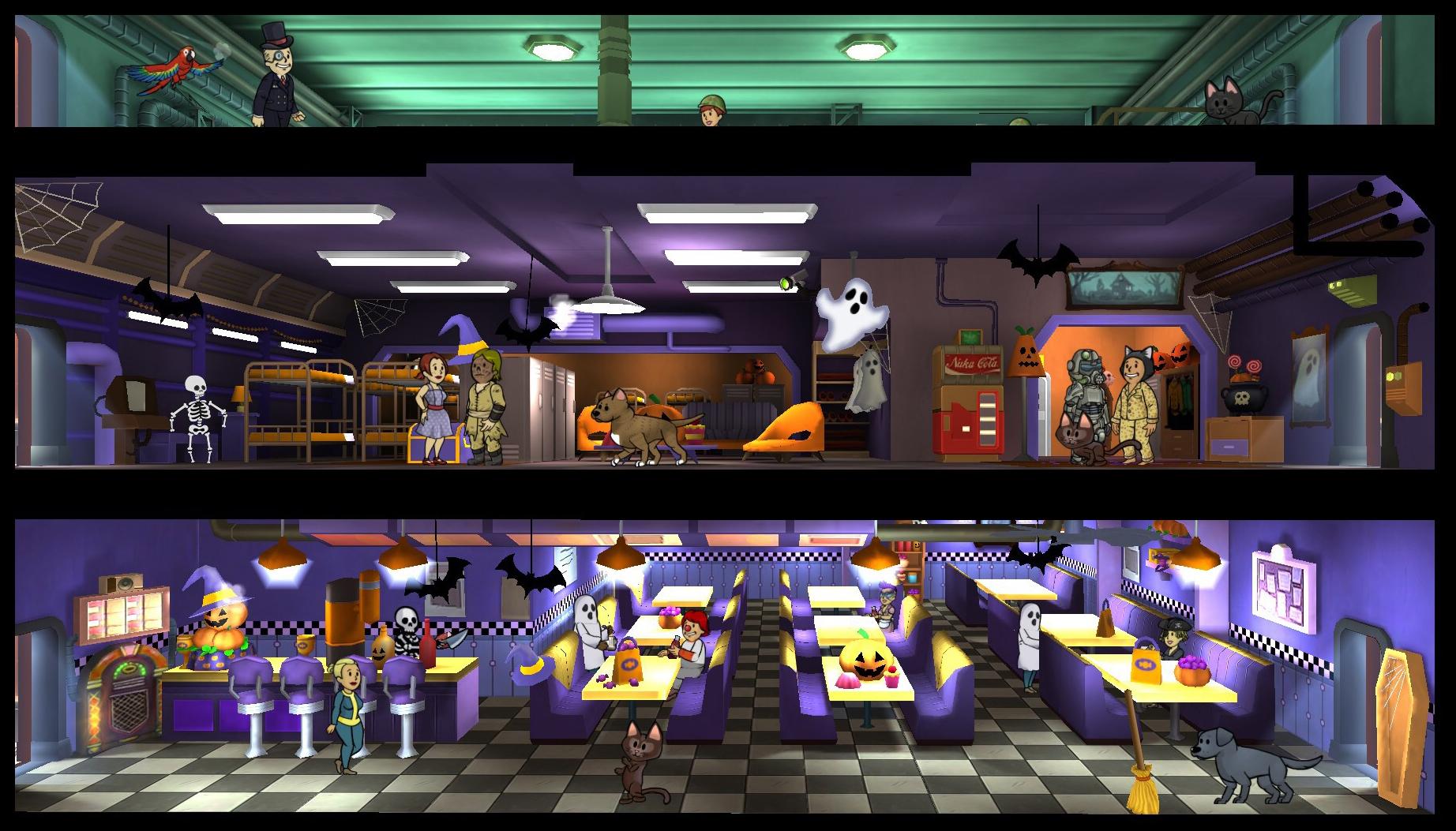 fallout shelter 18 update halloween roomjpg