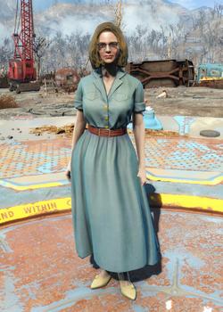 Laundered denim dress