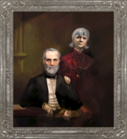 Lorenzo and Wilhelmina Cabot portrait