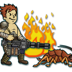 Рейдер і Радтарган в <i>Fallout Shelter</i>