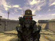 FNV Bug with advanced riot gear helmet
