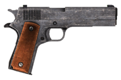 .45 Auto pistol with the improved sights modification