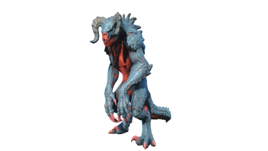 FO4 Deathclaw chameleon blue