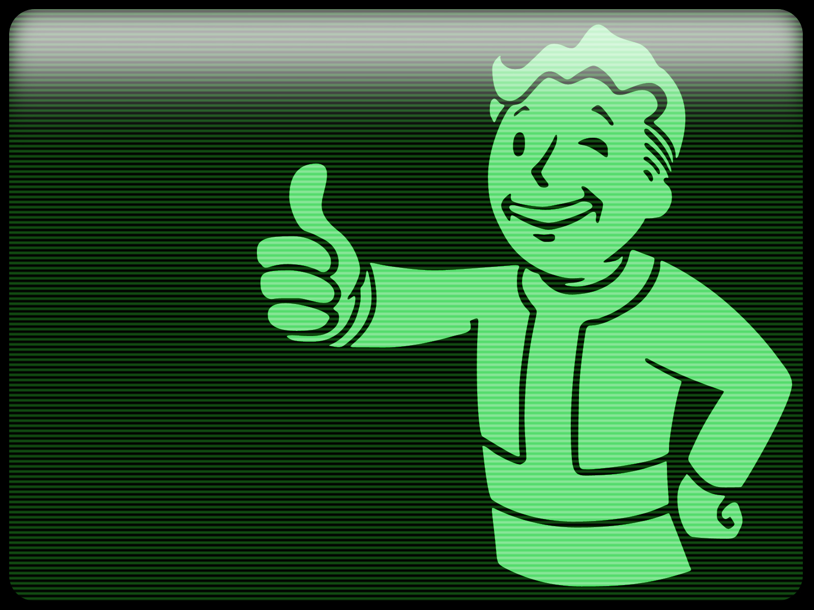 User Image Pip Boy Thumbs Up Monochrome