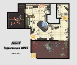 FO4 Радиостанция WRVR (интерьер)