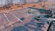 Fo76 Abandoned bog town (Rooftop camp)
