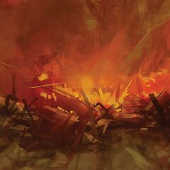 Ashes of Megaton promotional lithograph, concept art by <a class=
