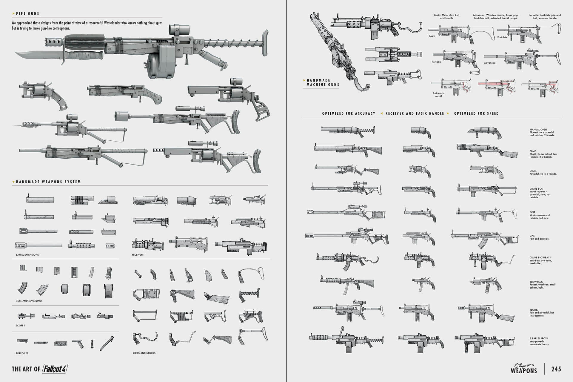 Art of Fo4 weapons concept art