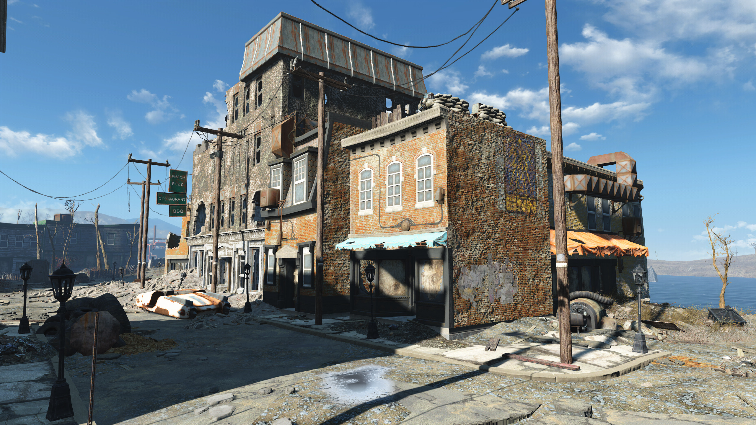 FO4 Salem Ruined Restaurant and Offices