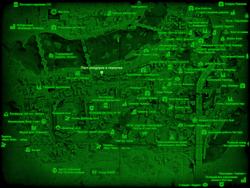 FO4 Пост рейдеров в переулке (карта мира)