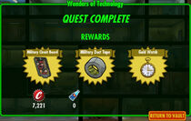 FoS Wonders of Technology rewards