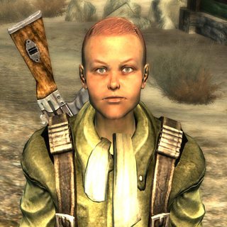 MacCready without his helmet in <i>Fallout 3</i>