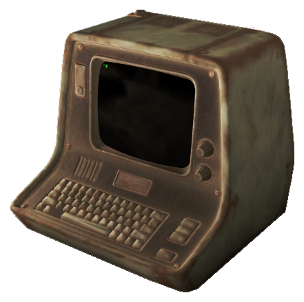 FO4 Desktopterminal weathered