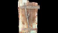 FO4 Half Shack Wall Metal Panels Sloped