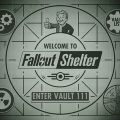 The main menu of <i>Fallout Shelter</i>