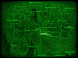 FO4 Полицейский участок Мальдена (карта мира)