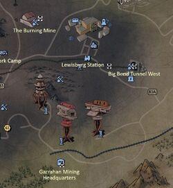 FO76 Power Armor Map Ash Heap West