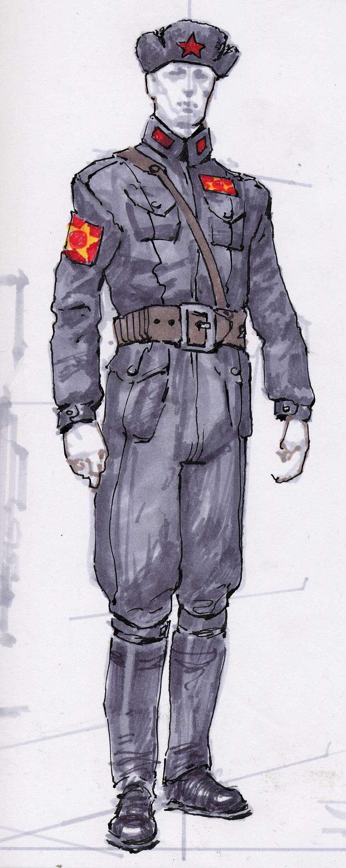 Chinese uniform CA2