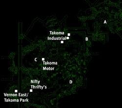 Takoma Park map