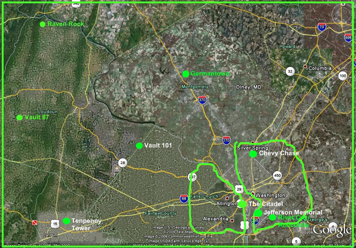 Fallout 3 Map Size Galveston Tx Map
